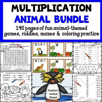 Multiplication Mega-Bundle -- Animal Themed!