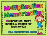 Multiplication Memorization