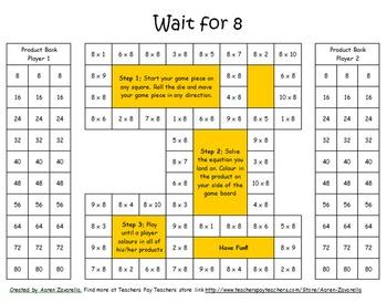 Multiplication Memorization Game