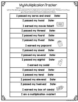 Multiplication Memorization Movie Incentive