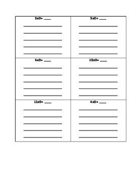 Multiplication Memorization Packet