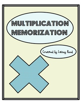 Multiplication Memorization/Skip Counting #1-12