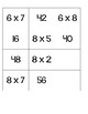 Multiplication Memory - Practicing multiples of 3, 4, 6,  and 8