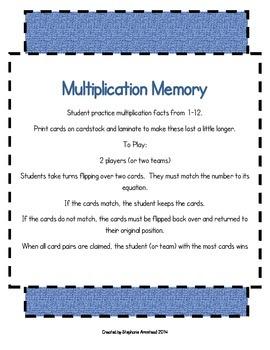 Multiplication Memory