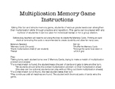 Multiplication Memory Game: 5 Times Tables