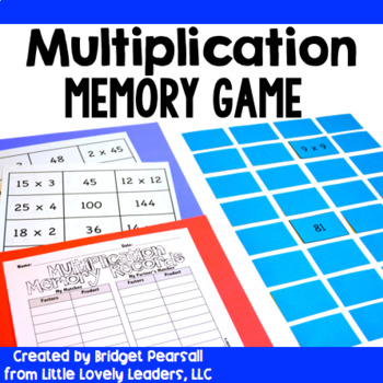 Multiplication Memory Game or Center