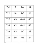 Multiplication Memory Games