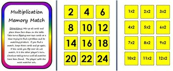 Multiplication Memory Match