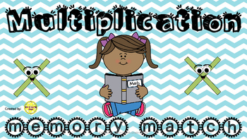 Multiplication Memory Match Game