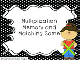 Multiplication Memory Matching Game