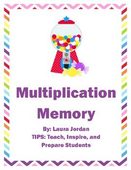 Multiplication Memory Sweet Treat