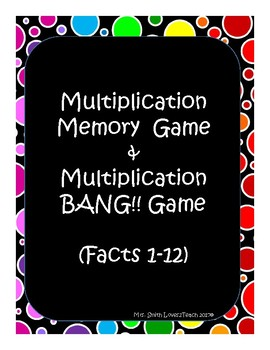 Multiplication Memory and Multiplication BANG!! Game