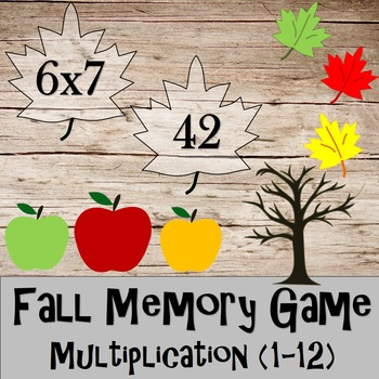 Multiplication Memory (fall themed)
