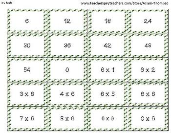 Multiplication Math Games - Memory Matching