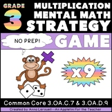 Multiplication Mental Math Strategy Game x9