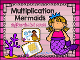 "Multiplication Array Cards ""Differentiated Flash Cards"" (Mermaid Theme)"