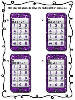 Multiplication Text Messaging Full Version (Facts 0-9)