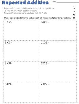 Multiplication Strategies for Learning the Facts, Second and Third Grade