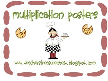 Multiplication Mini Posters