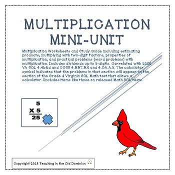 Multiplication Mini-Unit with Properties, Estimation, and Word Problems