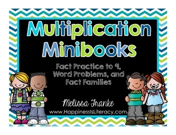 Multiplication Minibooks: Fact Practice to 9, Word Problems, and Fact Families