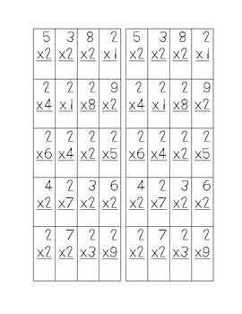 Multiplication Minute Math