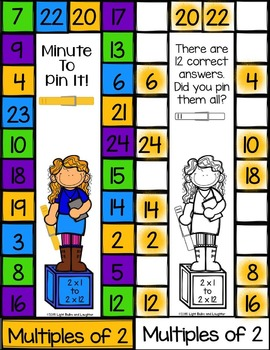 Multiplication Minute To Pin It Cards