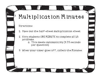 Multiplication Minutes