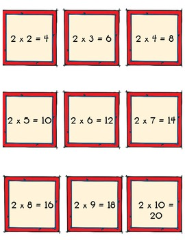 Multiplication Missing Addend Activity