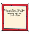 Multiplication Missing Addend Activity