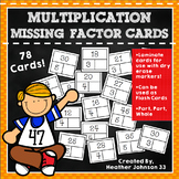 Multiplication Practice Missing Factor Cards