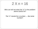 Multiplication- Missing Factor