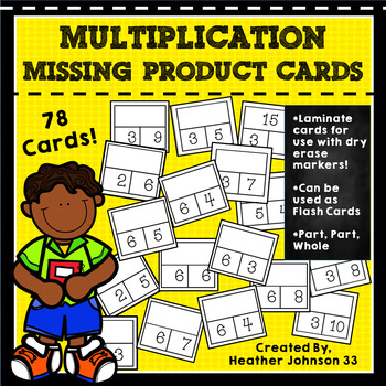 Multiplication Practice Missing Product Cards