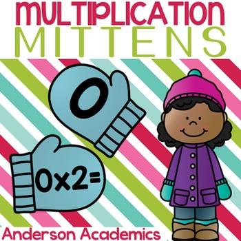 Multiplication Mittens - Winter-Themed Multiplication Center