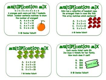Multiplication Strategies Task Cards