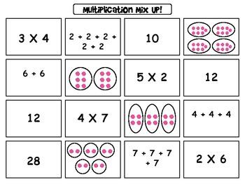 Multiplication Mix Up Sort FREEBIE!!!!