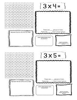 Multiplication Model Book for Learning Facts