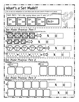 Multiplication Model Strategy: BIG Worksheet Bundle