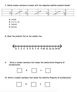 Multiplication Modeling & Properties VA SOL 3.6 & Common Core