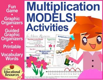 Multiplication - Interactive Notebook, Graphic Organizers, plus Fun Game