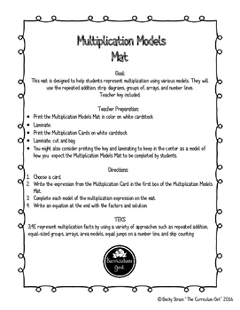 Multiplication Models Mat (3.4E, 3.0A.3)