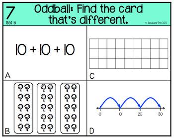 Multiplication Models Oddball Cards