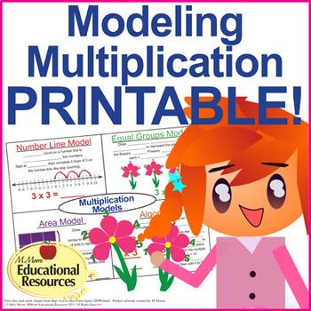Multiplication - PRINTABLE - 4 Models of Multiplying - for Interactive Notebook