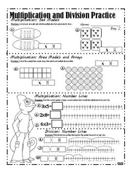 Multiplication Models Practice