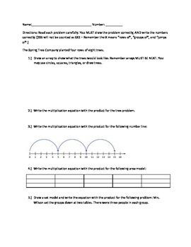 Multiplication Models Quiz