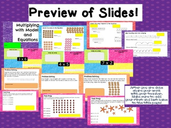 Multiplication Models TEKS 3.5B 3.4D 3.4E Google Classroom Ready!
