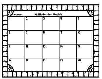 Multiplication Models Task Cards