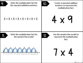 Multiplication Models Task Cards - 3.4E