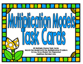 Multiplication Models Task Cards-Spring Theme