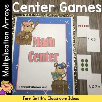 Pirate Multiplication Arrays Math Center Games